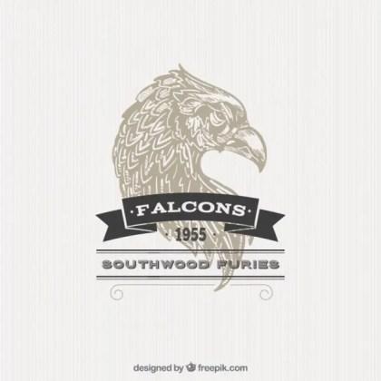 Illustrated Falcon Badge Free Vector