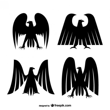 Imperial Eagles Silhouettes Free Vector