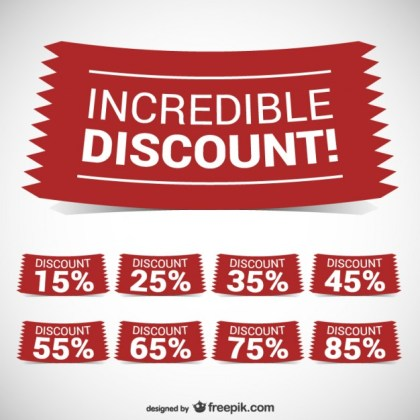 Incredible Discount Banners Free Vector