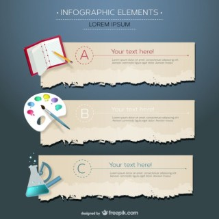 Infographic Education Disciplines Free Vector