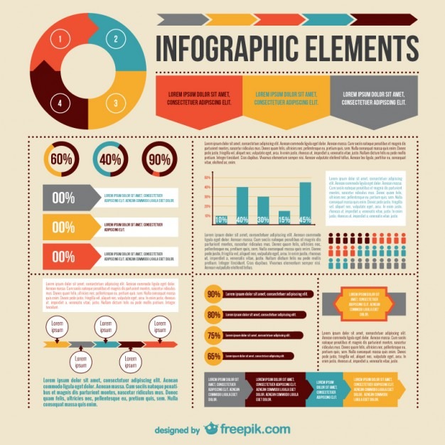 Infographic Elements Collection Free Vector