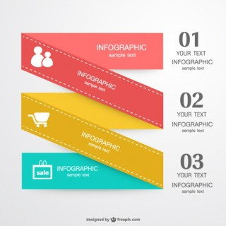 Infographic Folded Label Design Free Vector