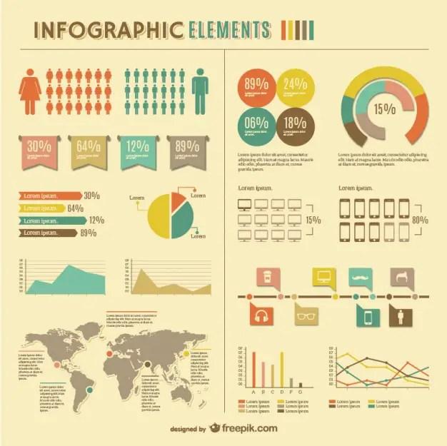 Infographic Global Statistics Design Free Vector