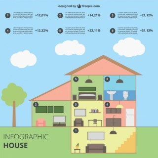 Infographic House Free Vector