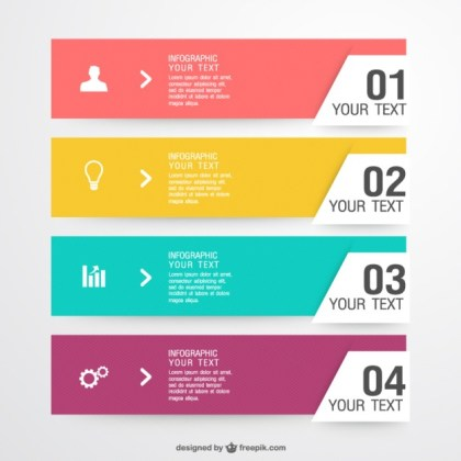 Infographic Label Elements Free Vector