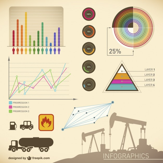Infographic Presentation Oil Template Free Vector