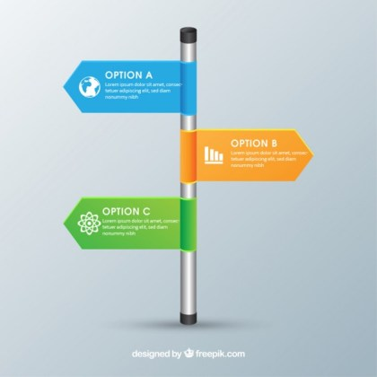 Infographic Roadsigns Free Vector