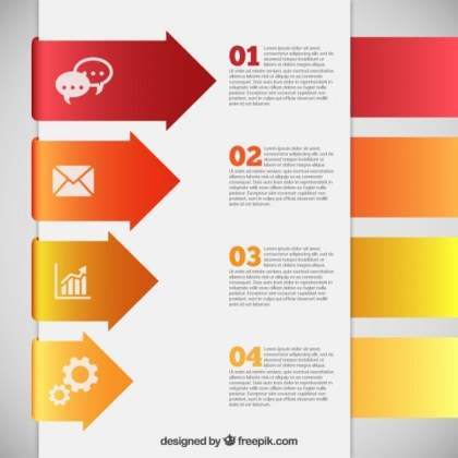 Infographic Template with Arrows Free Vector