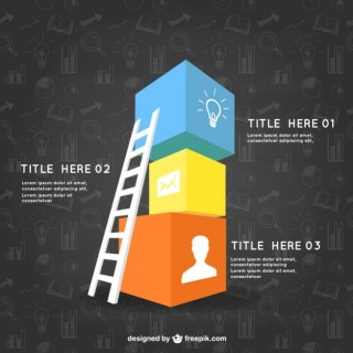Infographic Template with Cubes Free Vector