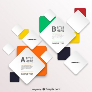 Infographic Template with Squares Free Vector