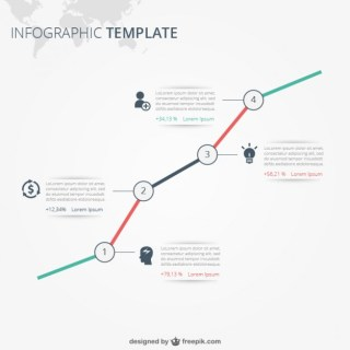 Infographic Template with Text Free Vector