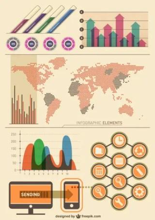Infographic Vintage Design Free Vector