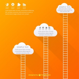 Infographic with Clouds Free Vector