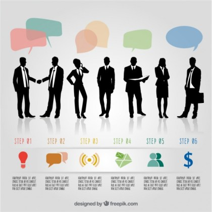 Infographic with Entrepreneurs Free Vector