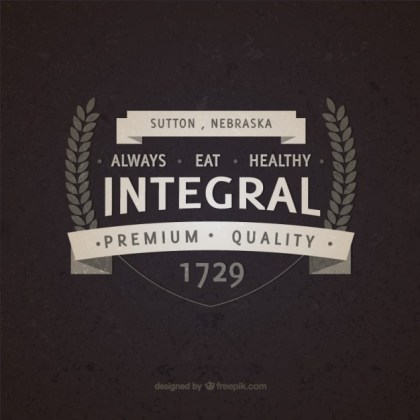 Integral Food Vintage Badge Free Vector