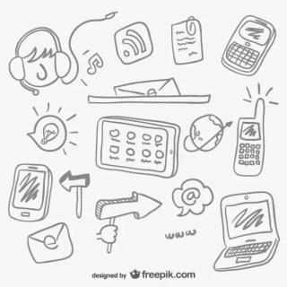 Internet Concept Sketches Free Vector