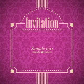 Invitation Retro Style Free Vector