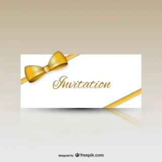 Invitation with Ribbon Free Vector