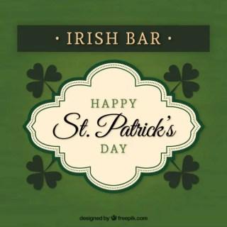 Irish Bar Badge Free Vector