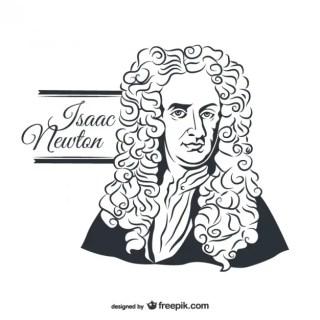 Isaac Newton Portrait Free Vector
