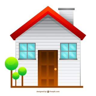 Isolated House Drawing Free Vector