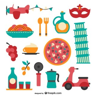 Italian Food Pack Free Vector