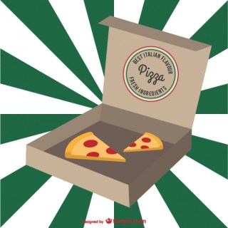 Italian Pizza Cartoon Free Vector