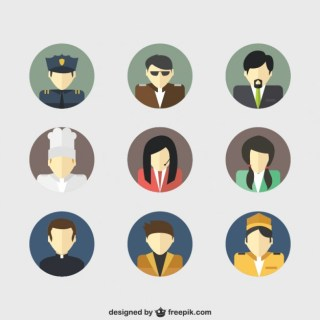 Job Avatars Free Vector