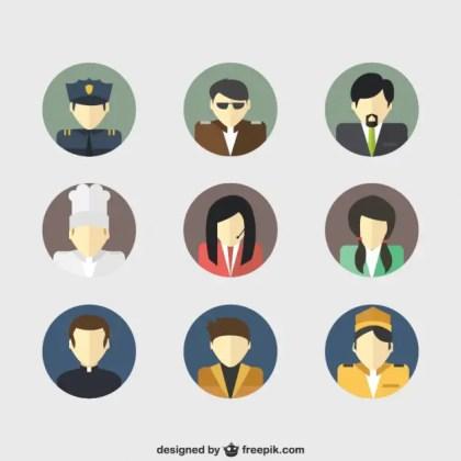Job Avatars Free Vector