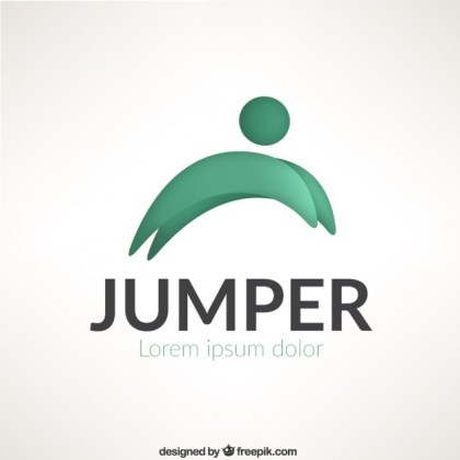 Jumper Logo Template Free Vector