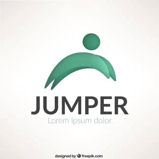 Jumper Logo Template Free Vector