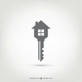 Key House Logo Free Vector