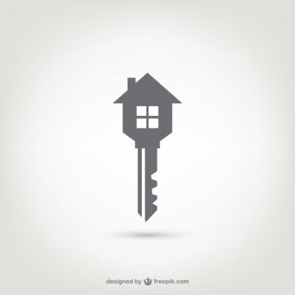 Key House Logo Free Vector