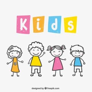 Kids Drawing Free Vector
