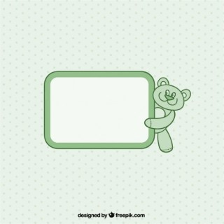 Label with Teddy Bear Free Vector