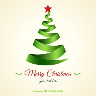 Lace Style Christmas Tree Free Vector