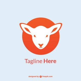 Lamb Logo Template Free Vector
