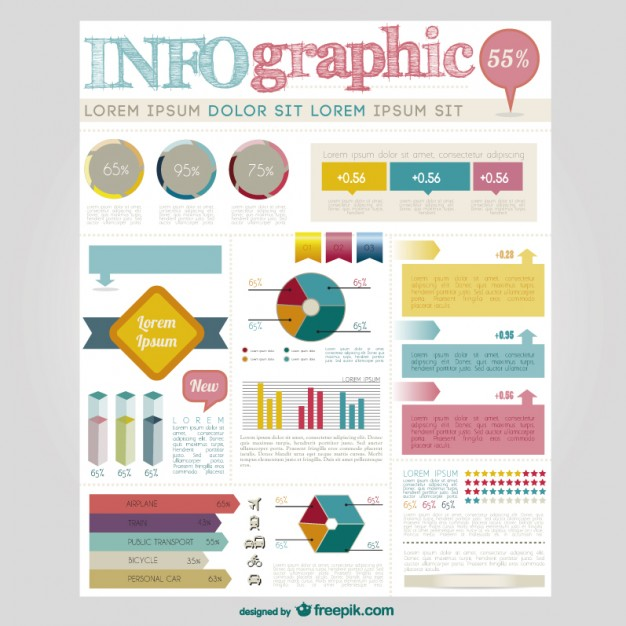 Large Infographic Elements Collection Free Vector