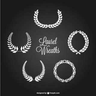 Laurel Wreath Set Free Vector
