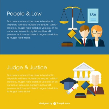 Law Banners Free Vector