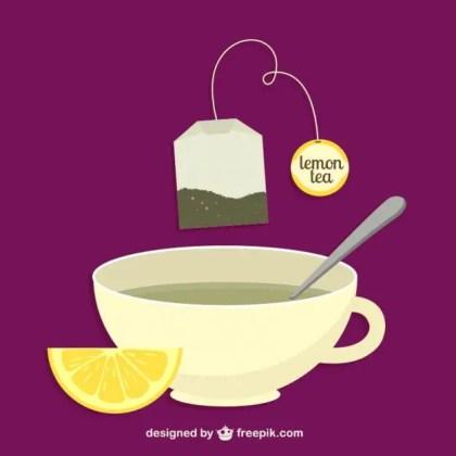 Lemon Tea Bag and Cup Free Vector