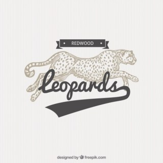 Leopard Badge in Illustration Style Free Vector