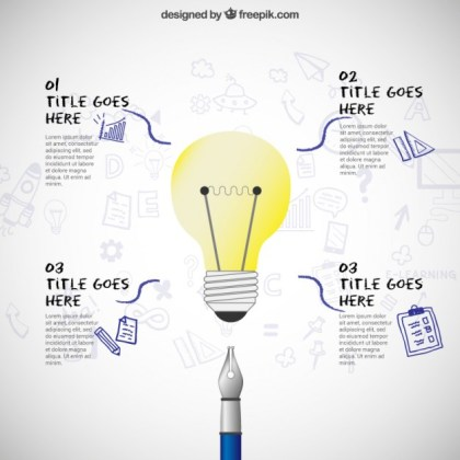 Light Bulb Infographic Free Vector