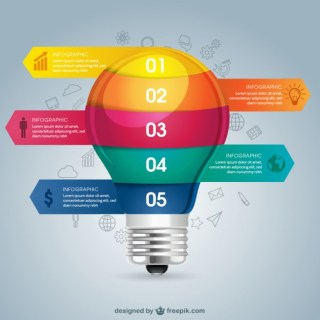 Lightbulb Education Infography Free Vector