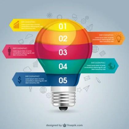 Lightbulb Education Infography Free Vector