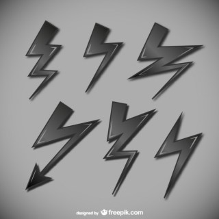 Lightning Symbols Collection Free Vector