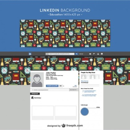 Linkedin Education Background Free Vector