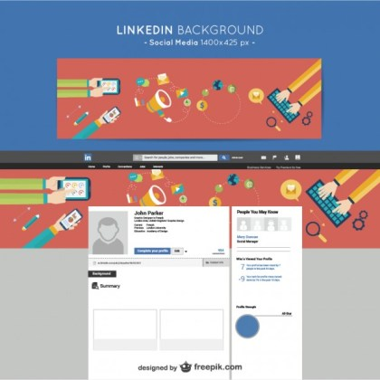 Linkedin Social Media Background Free Vector
