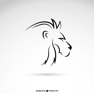 Lion Line Art Profile Free Vector