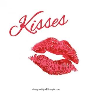 Lipstick Kisses Free Vector